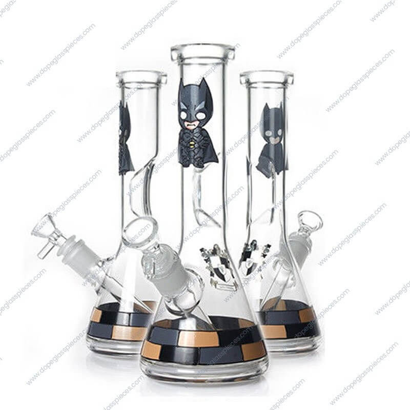 10 Inch Batman Themed Glass Piece