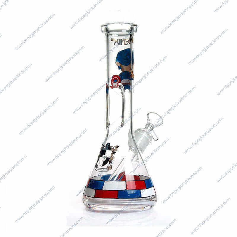 10 Inch Captain America Themed Glass Piece 3