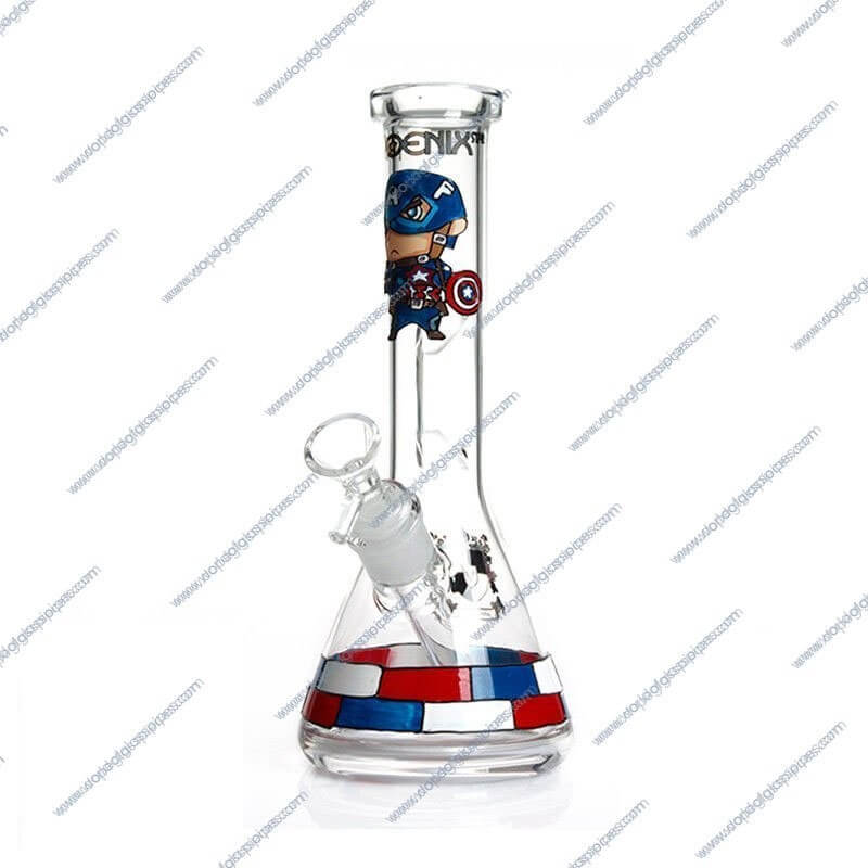 10 Inch Captain America Themed Glass Piece