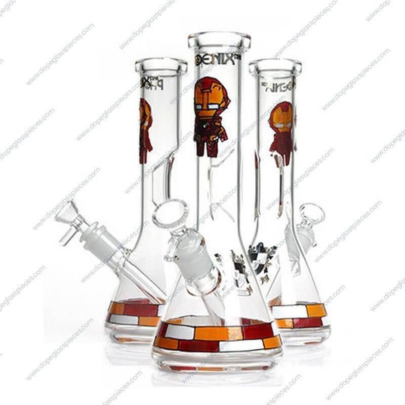 10 Inch Iron Man Themed Glass Piece 4