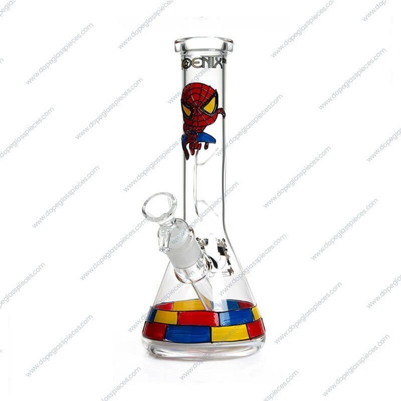 10 Inch Spiderman Themed Glass Piece