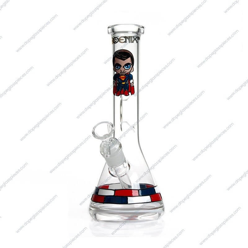 10 Inch Superman Themed Glass Piece