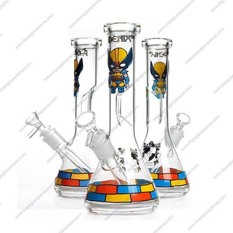 10 Inch Wolverine Themed Glass Piece 5