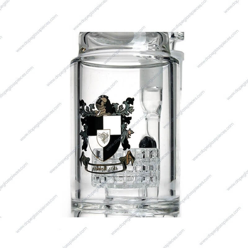14 Inch Black and White Glycerin Drumbase Perc Glass Piece5