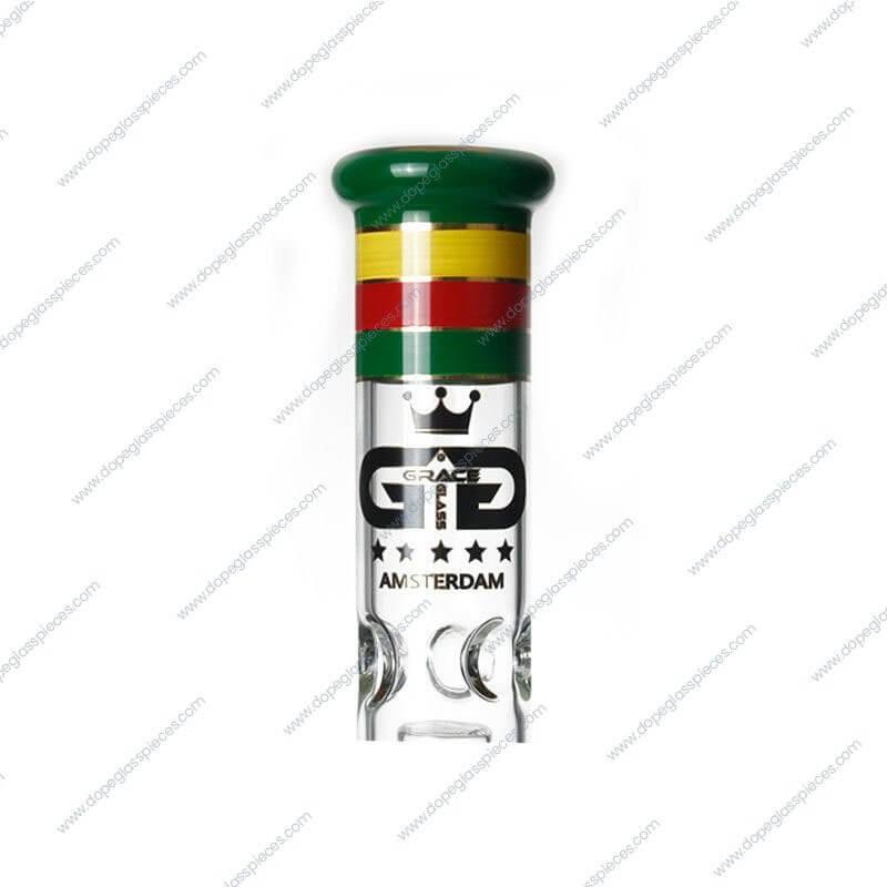 18 Inch Rasta Colored Beaker Glass Piece3