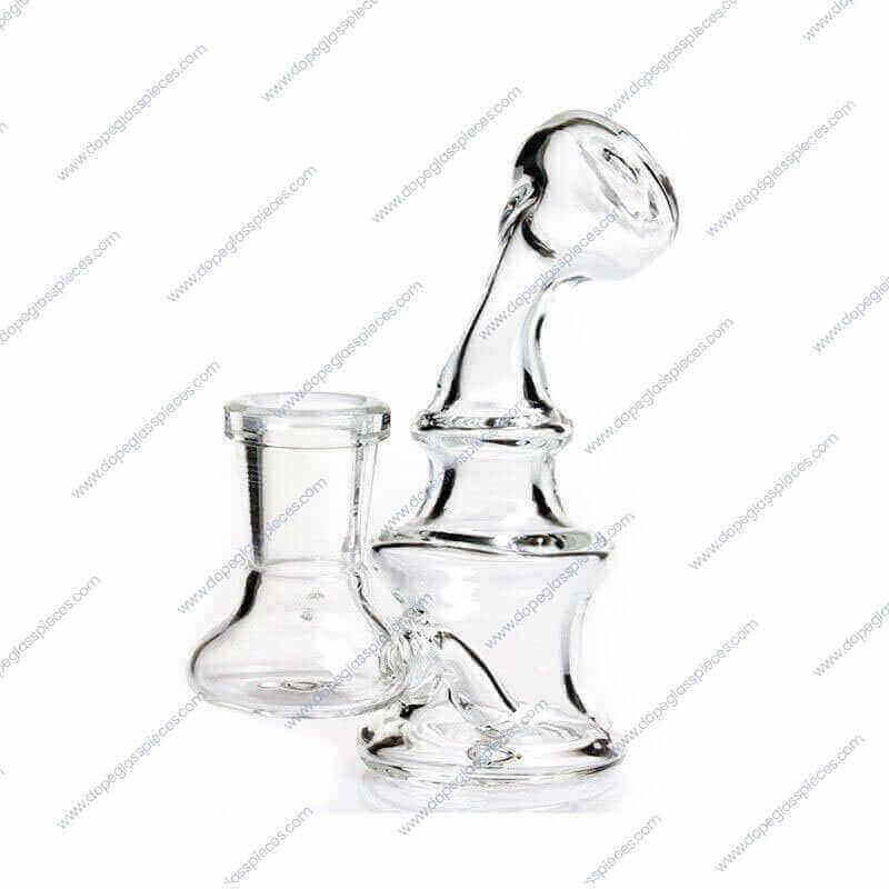 4 Inch Mini Glass Water Piece1