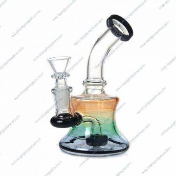6 Inch Black Showerhead Perc Glass Piece 3
