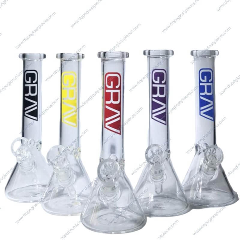 8 Inch Colored GRAV Ice Glass Piece